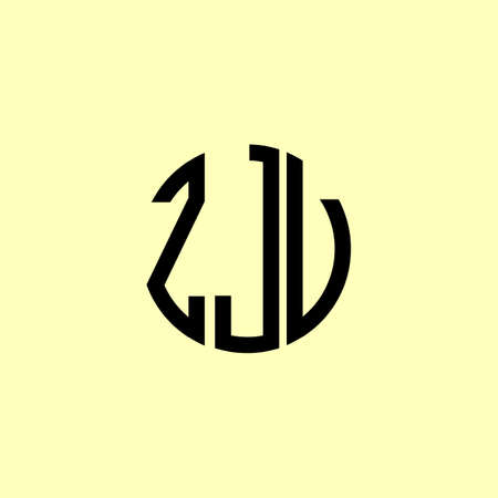 Creative Rounded Initial Letters ZJV Logo. It will be suitable for which company or brand name start those initial.