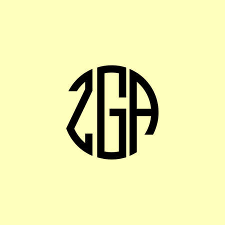 Creative Rounded Initial Letters ZGA Logo. It will be suitable for which company or brand name start those initial. Illusztráció