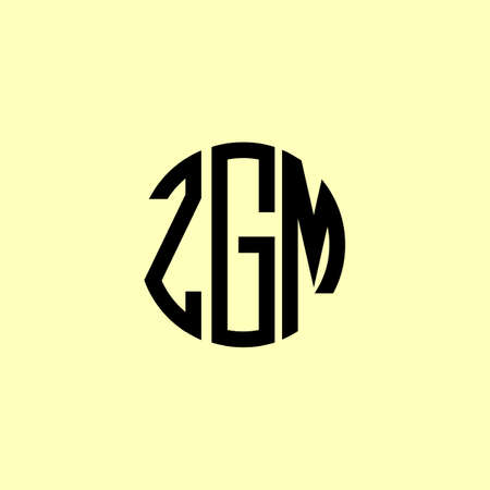 Creative Rounded Initial Letters ZGM Logo. It will be suitable for which company or brand name start those initial. Illusztráció
