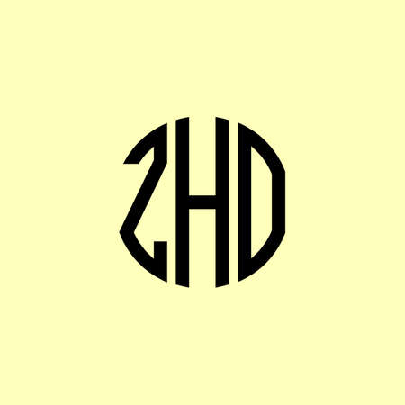 Creative Rounded Initial Letters ZHO Logo. It will be suitable for which company or brand name start those initial.