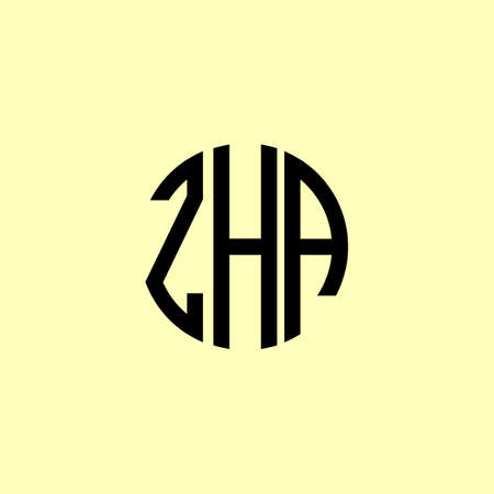 Creative Rounded Initial Letters ZHA Logo. It will be suitable for which company or brand name start those initial. Illusztráció