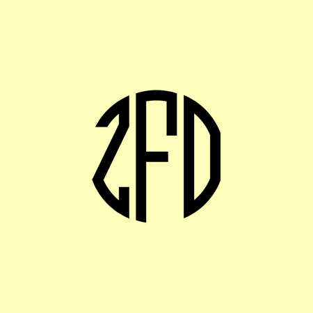 Creative Rounded Initial Letters ZFO Logo. It will be suitable for which company or brand name start those initial.