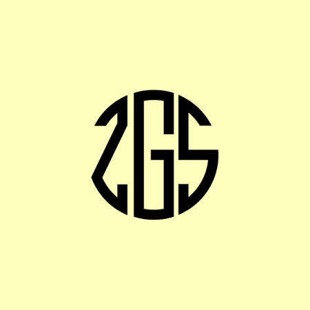 Creative Rounded Initial Letters ZGS Logo. It will be suitable for which company or brand name start those initial.