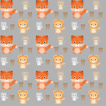Cats Seamless Pattern Design . Vector Illustration. Illusztráció