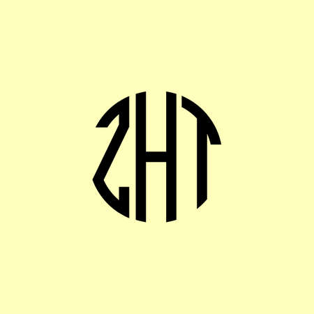 Creative Rounded Initial Letters ZHT Logo. It will be suitable for which company or brand name start those initial.