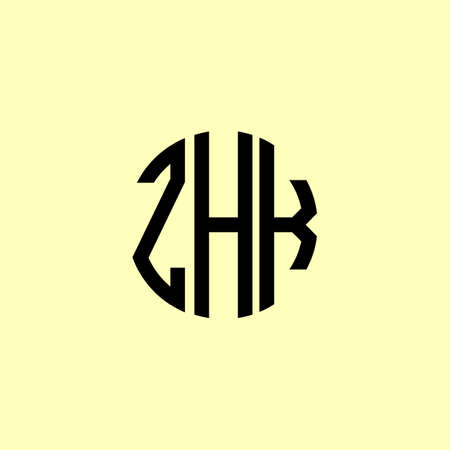Creative Rounded Initial Letters ZHK Logo. It will be suitable for which company or brand name start those initial.