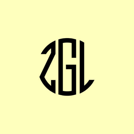 Creative Rounded Initial Letters ZGL Logo. It will be suitable for which company or brand name start those initial.