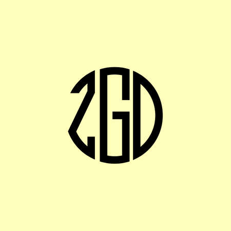 Creative Rounded Initial Letters ZGD Logo. It will be suitable for which company or brand name start those initial. Illusztráció
