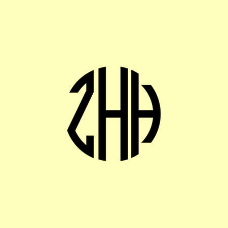 Creative Rounded Initial Letters ZHH Logo. It will be suitable for which company or brand name start those initial.