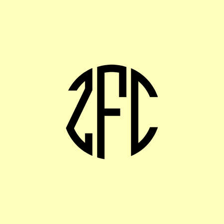 Creative Rounded Initial Letters ZFC Logo. It will be suitable for which company or brand name start those initial. Illusztráció