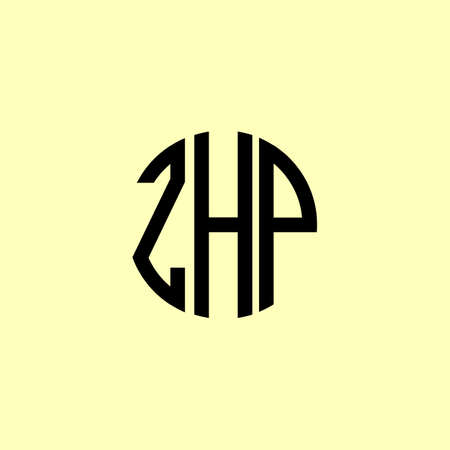 Creative Rounded Initial Letters ZHP Logo. It will be suitable for which company or brand name start those initial. Illusztráció