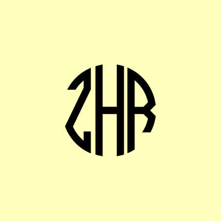 Creative Rounded Initial Letters ZHR Logo. It will be suitable for which company or brand name start those initial.
