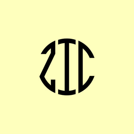 Creative Rounded Initial Letters ZIC Logo. It will be suitable for which company or brand name start those initial. Illusztráció