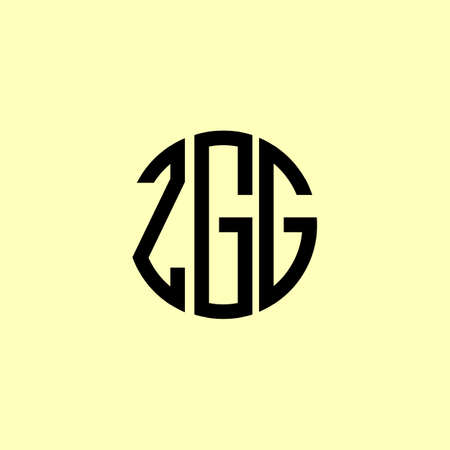 Creative Rounded Initial Letters ZGG Logo. It will be suitable for which company or brand name start those initial.