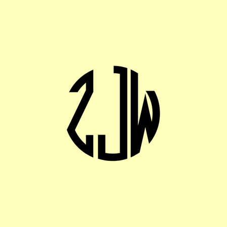 Creative Rounded Initial Letters ZJW Logo. It will be suitable for which company or brand name start those initial.
