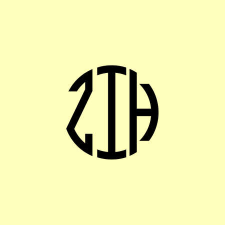 Creative Rounded Initial Letters ZIH Logo. It will be suitable for which company or brand name start those initial.