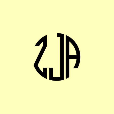 Creative Rounded Initial Letters ZJA Logo. It will be suitable for which company or brand name start those initial.
