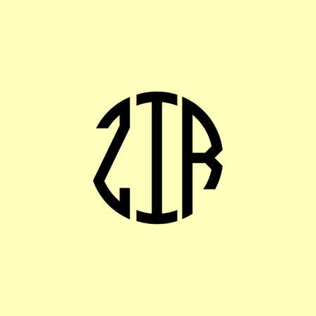 Creative Rounded Initial Letters ZIR Logo. It will be suitable for which company or brand name start those initial.