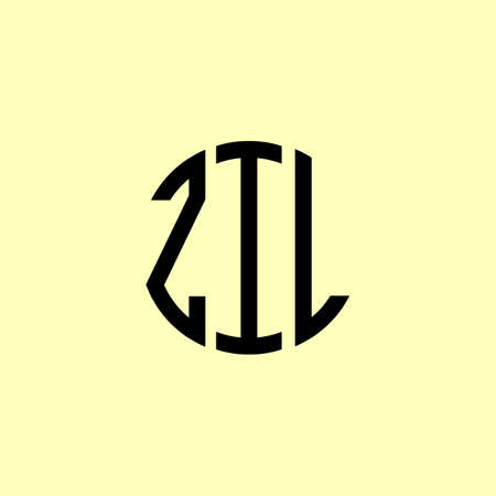 Creative Rounded Initial Letters ZIL Logo. It will be suitable for which company or brand name start those initial.