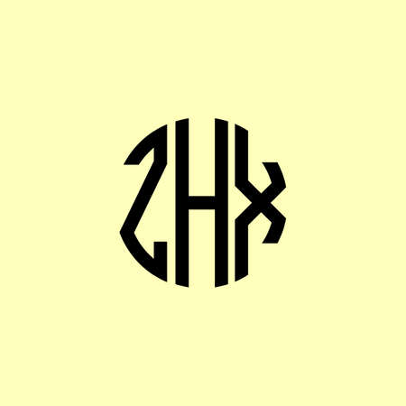 Creative Rounded Initial Letters ZHX Logo. It will be suitable for which company or brand name start those initial. Illusztráció