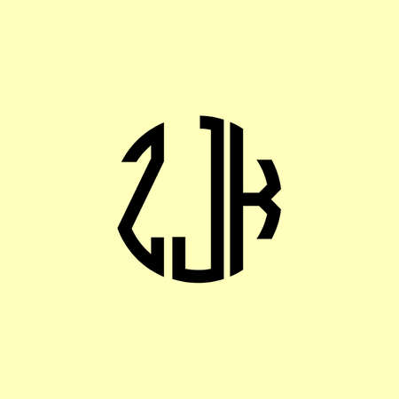 Creative Rounded Initial Letters ZJK Logo. It will be suitable for which company or brand name start those initial. Illusztráció