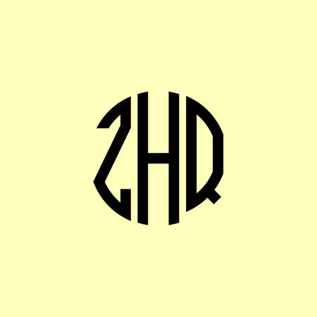 Creative Rounded Initial Letters ZHQ Logo. It will be suitable for which company or brand name start those initial. Illusztráció