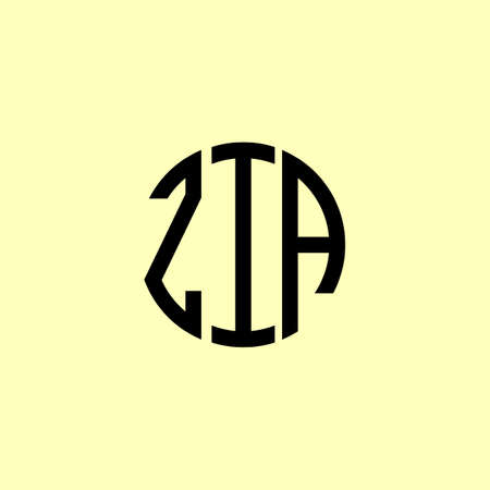 Creative Rounded Initial Letters ZIA Logo. It will be suitable for which company or brand name start those initial. Illusztráció