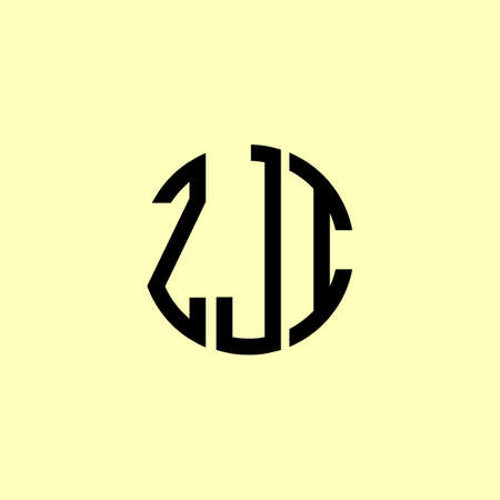 Creative Rounded Initial Letters ZJI Logo. It will be suitable for which company or brand name start those initial. Illusztráció
