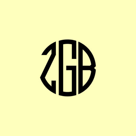 Creative Rounded Initial Letters ZGB Logo. It will be suitable for which company or brand name start those initial.