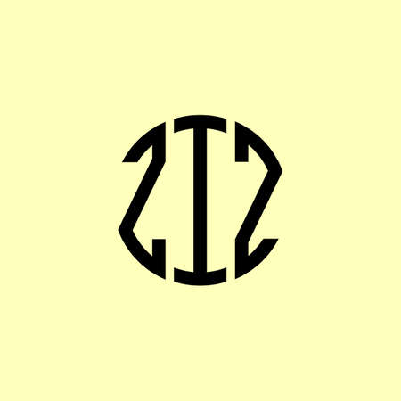 Creative Rounded Initial Letters ZIZ Logo. It will be suitable for which company or brand name start those initial.