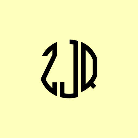 Creative Rounded Initial Letters ZJQ Logo. It will be suitable for which company or brand name start those initial.
