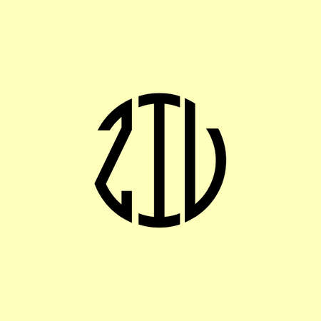 Creative Rounded Initial Letters ZIV Logo. It will be suitable for which company or brand name start those initial.