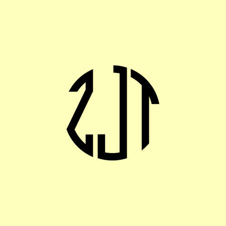 Creative Rounded Initial Letters ZJT Logo. It will be suitable for which company or brand name start those initial.