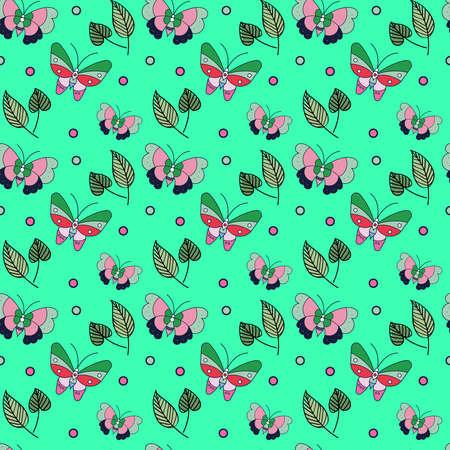 butterfly Seamless Pattern Design . Vector Illustration. Illusztráció