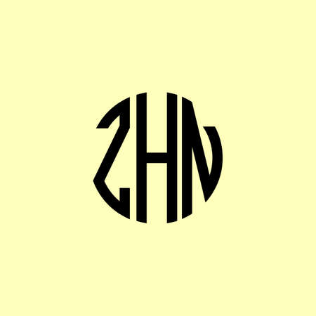 Creative Rounded Initial Letters ZHN Logo. It will be suitable for which company or brand name start those initial.