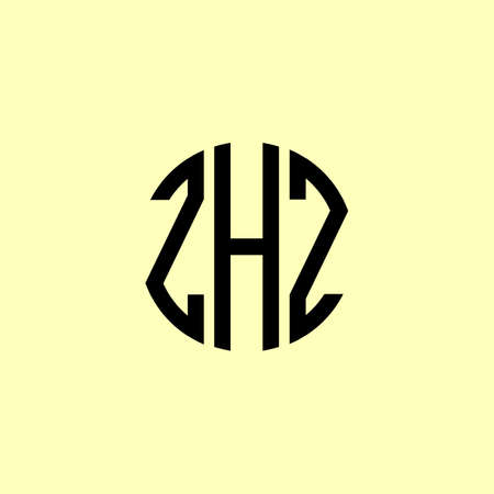 Creative Rounded Initial Letters ZHZ Logo. It will be suitable for which company or brand name start those initial.