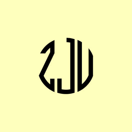 Creative Rounded Initial Letters ZJU Logo. It will be suitable for which company or brand name start those initial.
