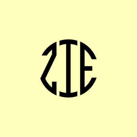 Creative Rounded Initial Letters ZIE Logo. It will be suitable for which company or brand name start those initial.