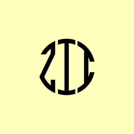 Creative Rounded Initial Letters ZII Logo. It will be suitable for which company or brand name start those initial.