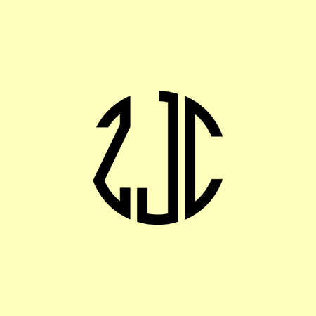 Creative Rounded Initial Letters ZJC Logo. It will be suitable for which company or brand name start those initial. Illusztráció