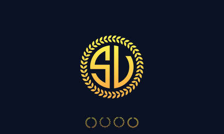 Organization Rounded Initial Letters SV logo. Vector illustration