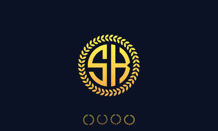 Organization Rounded Initial Letters SK logo. Vector illustration