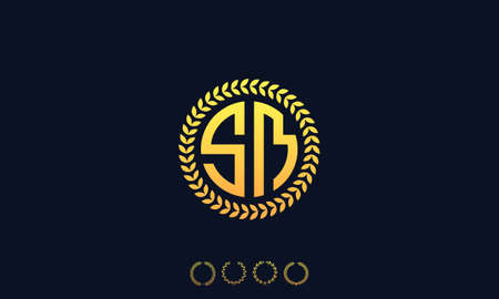 Organization Rounded Initial Letters SM logo. Vector illustration