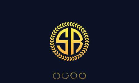 Organization Rounded Initial Letters SR logo. Vector illustration