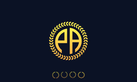 Organization Rounded Initial Letters PA logo. Vector illustration Ilustrace