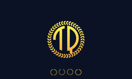 Organization Rounded Initial Letters TQ logo. Vector illustration Ilustrace