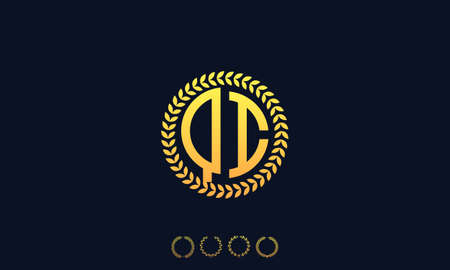 Organization Rounded Initial Letters QI logo. Vector illustration