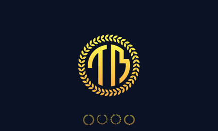 Organization Rounded Initial Letters TM logo. Vector illustration