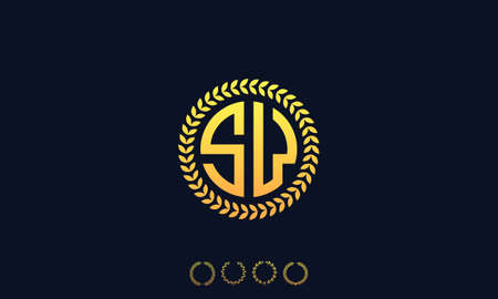Organization Rounded Initial Letters SW logo. Vector illustration Ilustrace