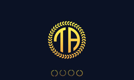 Organization Rounded Initial Letters TA logo. Vector illustration